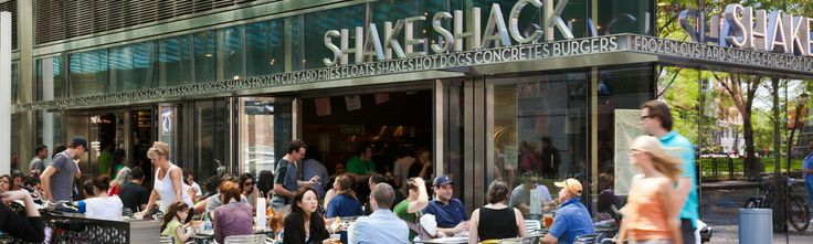 "Shake Shack, Battery Park City - located on ""Goldman alley"", so you can take your burger (or 'shroom burger) to a bench with a view of the Statue of Liberty."