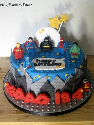 Top Lego Cakes - superheroes