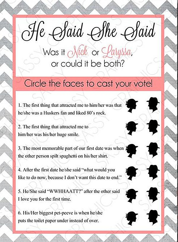 Top 5 Free Printable Bridal Shower Games |