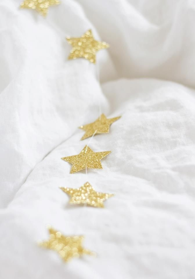 I love this  gold glitter paper star garland!