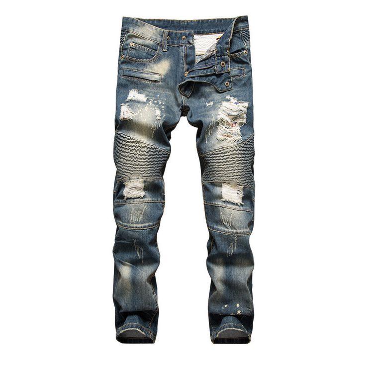 Balplein Brand Men Jeans High Street Fashion Designer Destroyed Ripped Jeans Men Cotton Pants Plus Size 28-42 Biker Jeans Homme. Yesterday's price: US $49.98 (40.90 EUR). Today's price: US $24.99 (20.62 EUR). Discount: 50%.