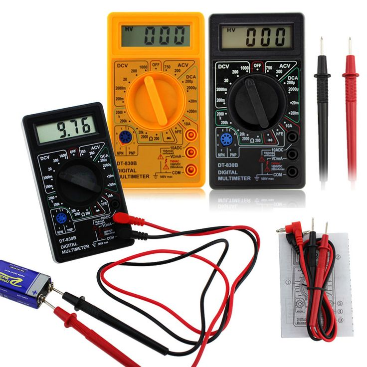 LCD Digital Voltmeter Ammeter Ohm Multimeter DT-830B Listrik Tester AC/DC 750/1000 V Amp Volt Ohm Tester Meter