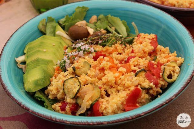 Millet aux légumes grillés - recette végétale et sans gluten - La Fée Stéphanie