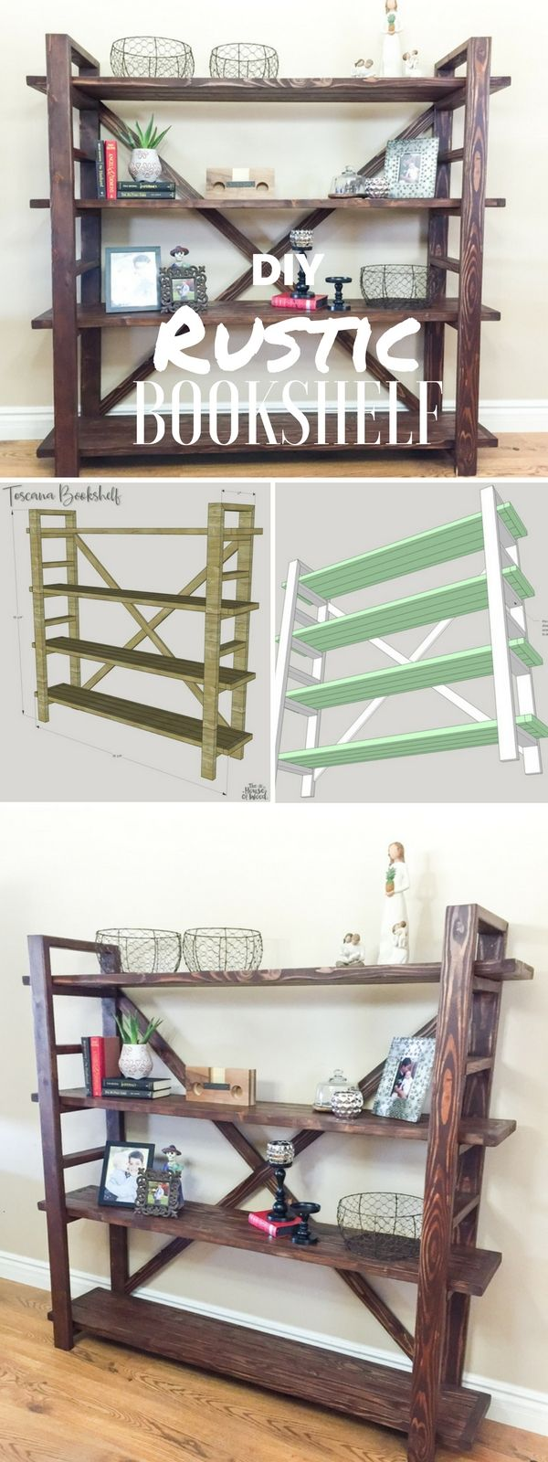 Check out the tutorial: #DIY Rustic Bookshelf @istandarddesign