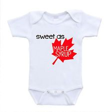Sweet AS Maple Syrup Canadian Canada Leaf Baby Infant Clothing Onesies Bodysuits | eBay