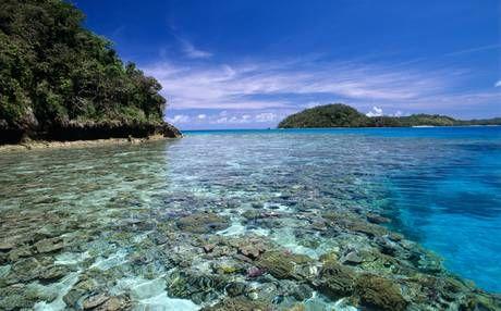 A shallow reef near Milne Bay.