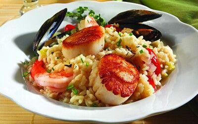 Seafood rizoto