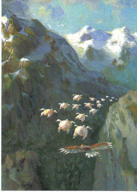 Flying Pigs -  Michael Sowa by glenasena, via Flickr