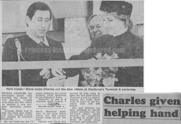 Memories Of Diana : Prince Charles & Princess Diana Open Heathrow Airport's New Terminal 4 - April 1st 1986
