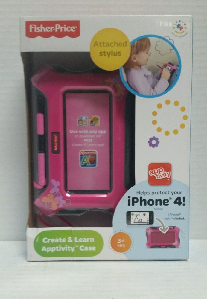 Fisher-Price Apptivity Case Pink iPhone 4 Attached stylus  Create and Learn  #FisherPrice