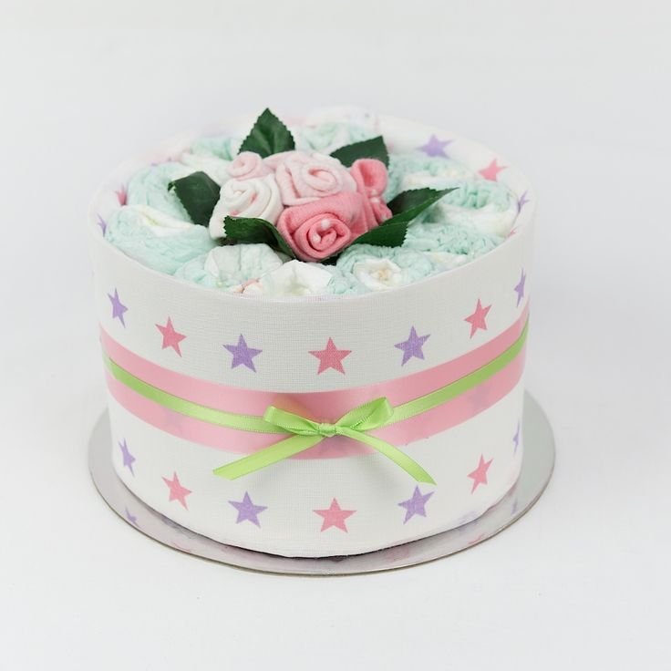 Pink Baby Girl Nappy Cake