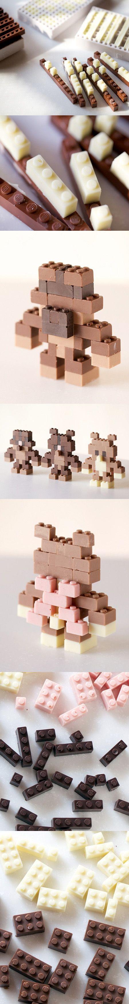 Chocolate LEGO / https://www.behance.net/sparebutton