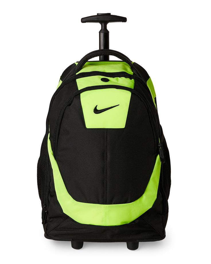 Nike Neon Green & Black Wheeled Backpack