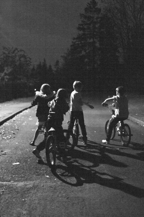 ...riding bikes until the street lights came on...  Yep, played in the dark, without helmets and adult supervision. Yet we lived. Also, didn't need government to ban our school lunch tater tots. No need. We were skinny. Playing for most of the day will do that.