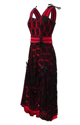 Check out this item on The Violet Vixen Amy's Strapped and Lacey Red Dress #thevioletvixen
