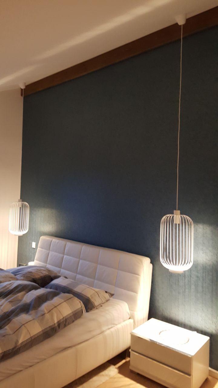Schlafzimmer Beleuchtung mit Pendelleuchten neben dem Bett ...