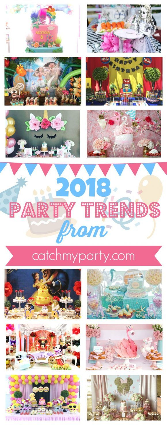 Most Popular 2018 Party Trends Catchmyparty Com Partytrends Partyideas Mostpopular 1st Birthday Party Themes Birthday Party Themes Party Themes