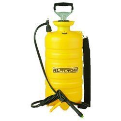 TANK SPRYR 3GAL 1 EACH by R. L. Flomaster. $54.69. Durable poly tank with funnel top opening and rugged cast iron handle sprayer adjusts cleaners from liquid to thick foam. Foam attaches to vertical surfaces for a longer chemical contact. For professional, commercial and consumer cleaning purposes. Ideal for use on shower walls, cars, carpets and coils. Sprayer/Hose/Nozzle Type: Sprayer; Sprayer/Nozzle Type: Switch; Nozzle/Sprayer Settings: On/Off.