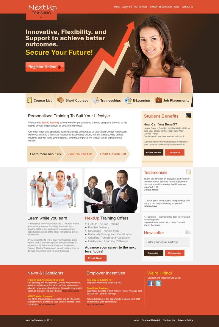 NextUp Training Website