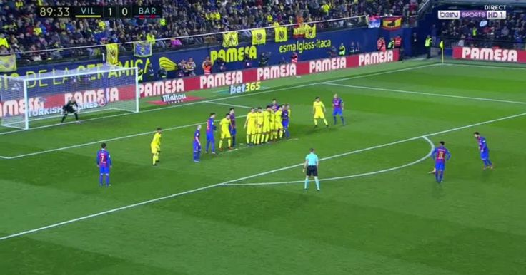 VIDEO: Messi Hauls Barca Level With Inch-Perfect Free-Kick Late Against Villarreal; 1-1 | 90min