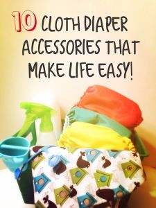 10 awesome, simple and CHEAP accessories that will make cloth diapering EASY! #ClothDiapers #ClothAccessories #DiaperSprayer http://MyGreenNest.com *PIN NOW, READ LATER!