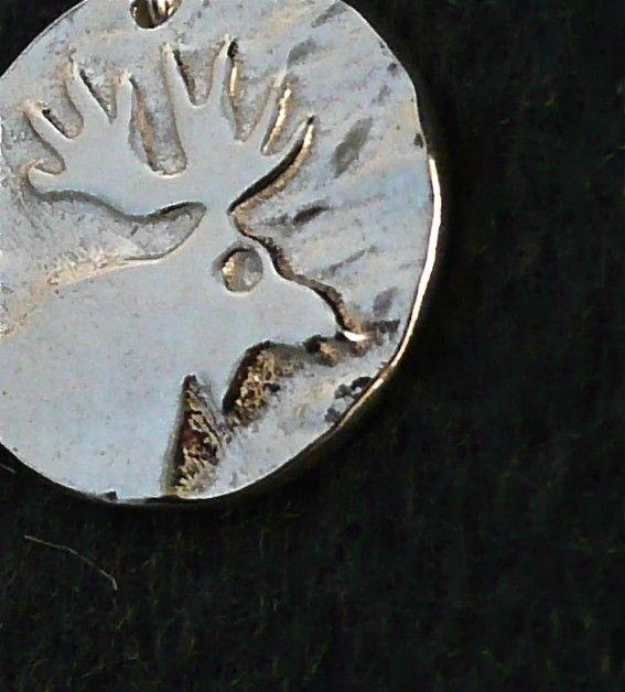 Sterling Silver Moose Earrings on Etsy