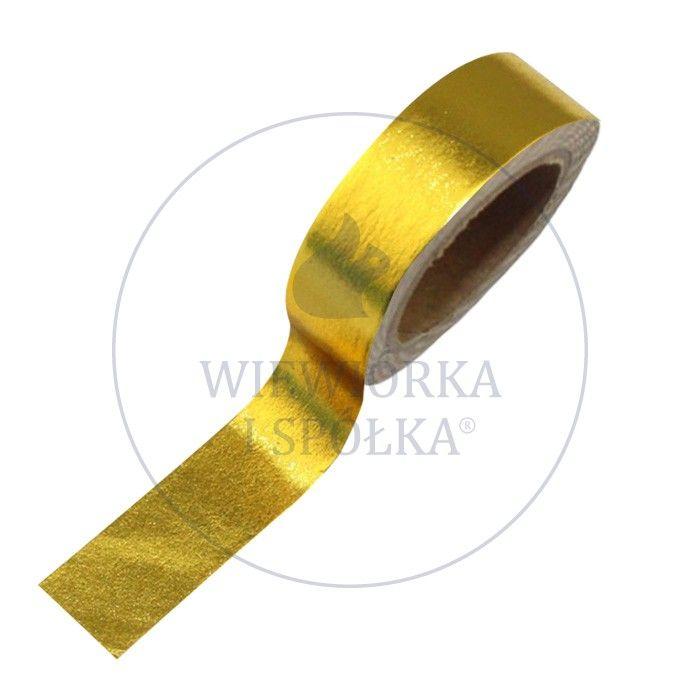 taśma washi tape złota