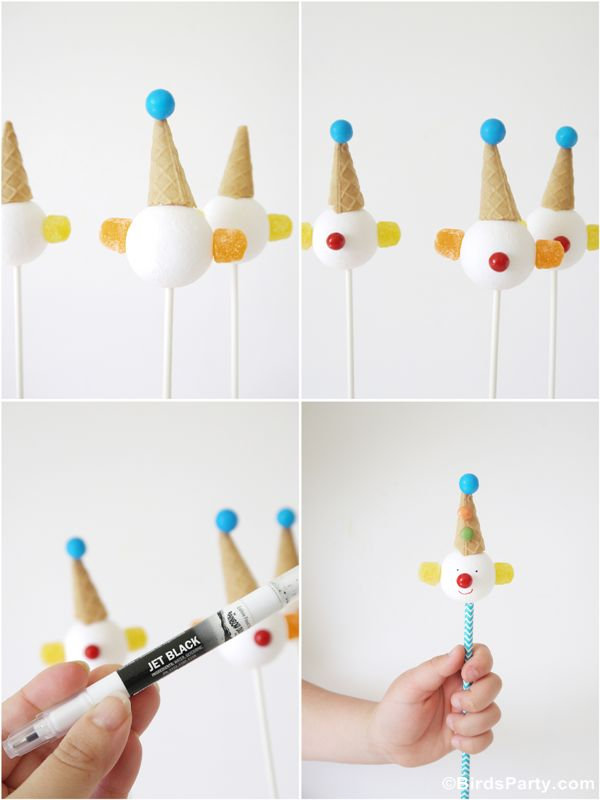 How to make clown cake pops