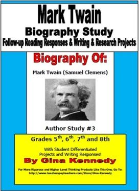 biography essay on mark twain Biography of mark twain, 1835-1910 about | collections  no one arraigned it in my hearing the local papers said nothing against it the local pulpit taught us that god approved it.