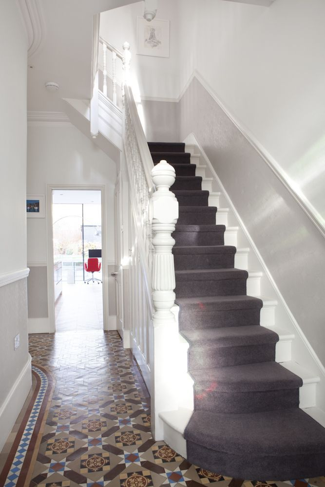 Carpet up the middle of the stairs is just a timeless way to make your house look wow.