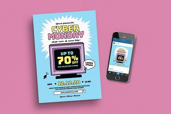 Cyber Monday Event Flyer By Guuver On Creative Market