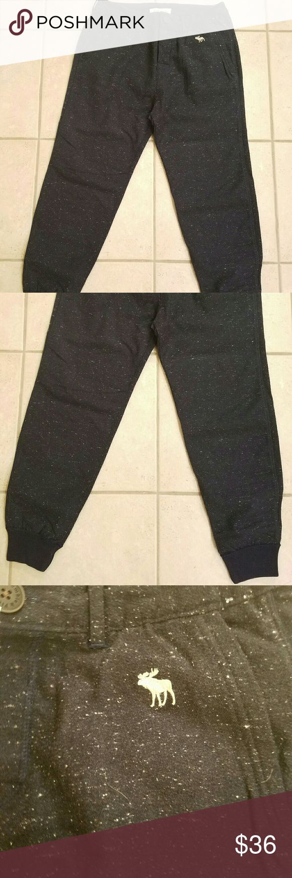 Mens Abercrombie Jogger style pants NWT Mens Jogger style pants- Dark Blue with white specs- These are not sweatpants or jeans, they are a dressy/casual jogger style pant. Abercrombie & Fitch Pants Sweatpants & Joggers