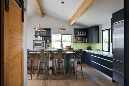Farben für Küchenwände \u2013 15 tolle Rückwände in grünen Farbnuancen - rückwand für küche
