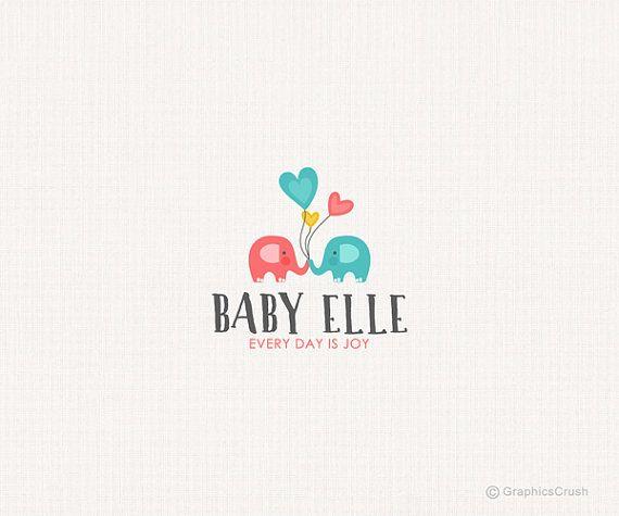 Cute elephant logo for sale (baby, elephant, cute, fun,whimsical, photography logo)
