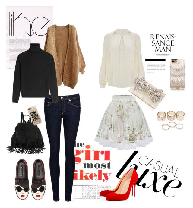 """""""The girl most likely"""" by freisstea on Polyvore featuring Temperley London, Christian Louboutin, Alice + Olivia, Kate Spade, rag & bone/JEAN, RED Valentino, Casetify and Wet Seal"""