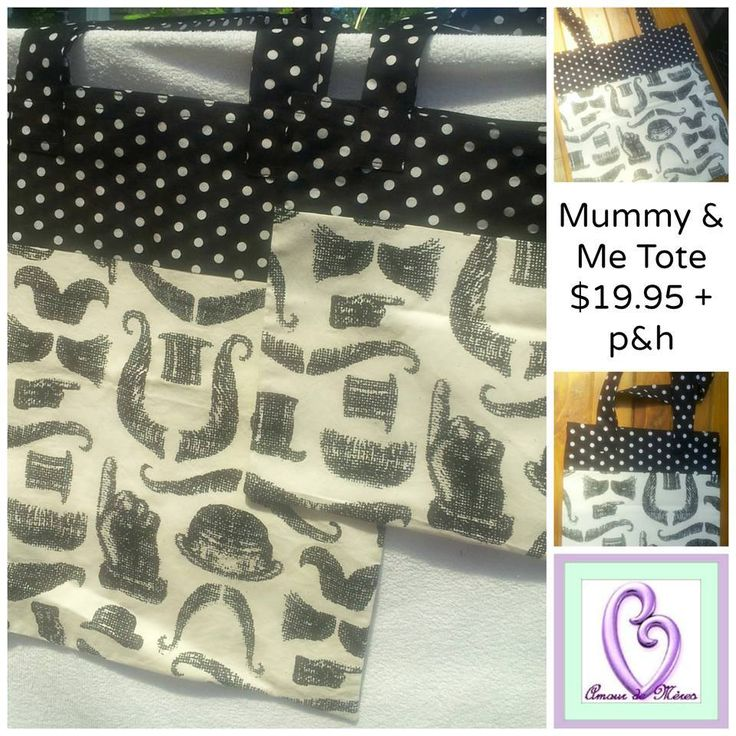 Handmade by @Amour de Mères  Mummy & Me Tote Bags