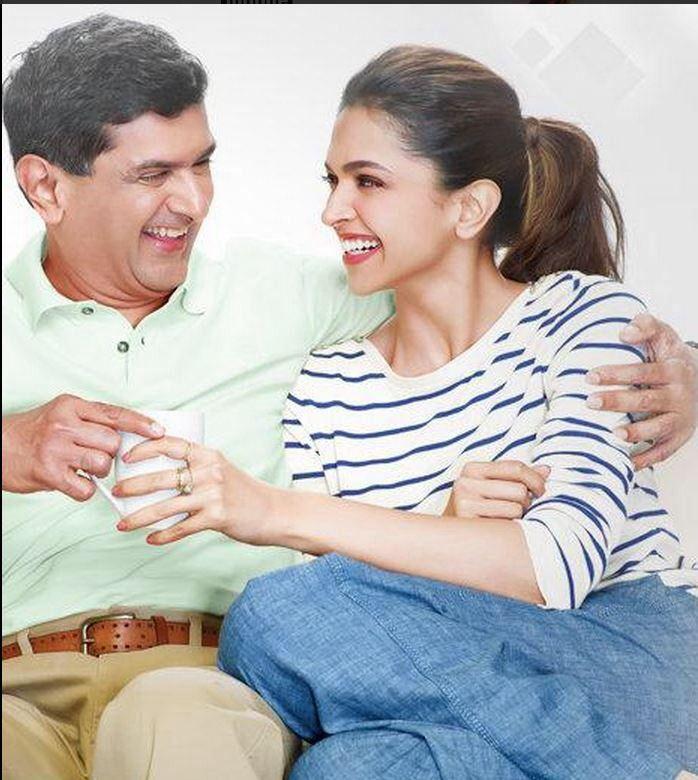 Deepika Padukone with her Dad Photoshoot | Veethi