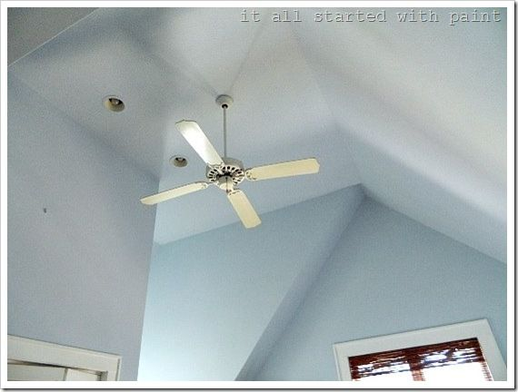 1000 images about diy painting on pinterest vaulted for How to paint a vaulted ceiling room
