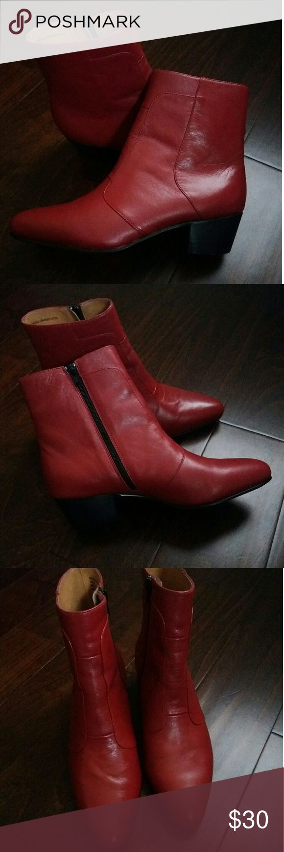 Giorgio Brutini Boots Red leather cuban heel boots new in box. Giorgio Brutini Shoes Ankle Boots & Booties