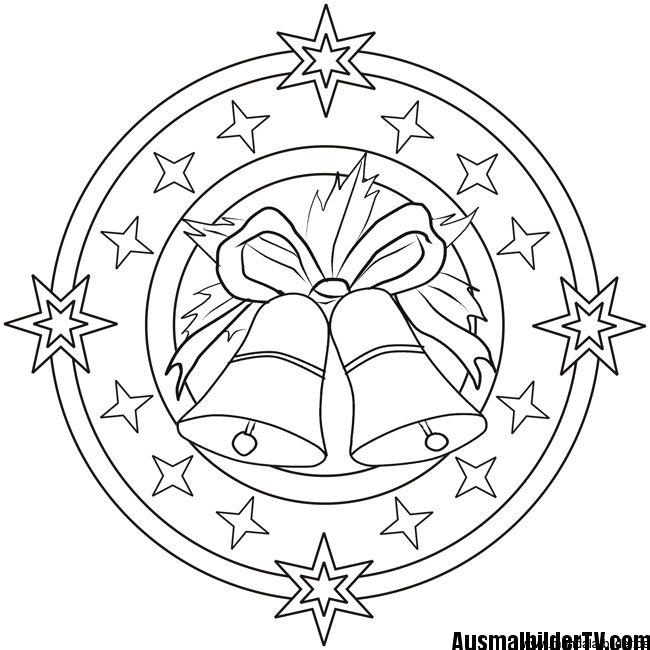 ausmalbilder weihnachten mandala  1ausmalbilder