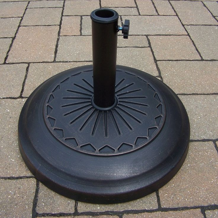 Cast Rust-Free Polyresin Star Umbrella Stand