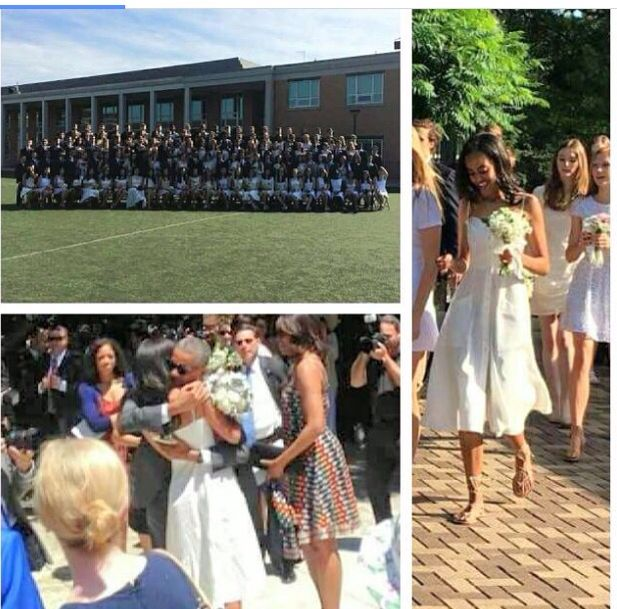 Malia Obama, graduated from Sidwell Friends School today Friday June 10, 2016.