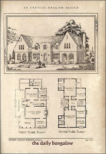 Andrew Charles Borzner::1928 Beautiful Homes | by Daily Bungalow