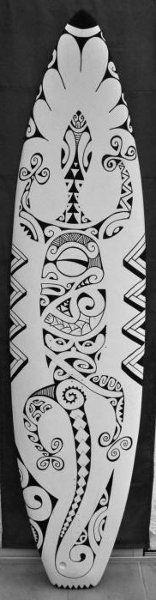 Motif pour Tattoo Maori Polynésien de Lézard ou Margouillat