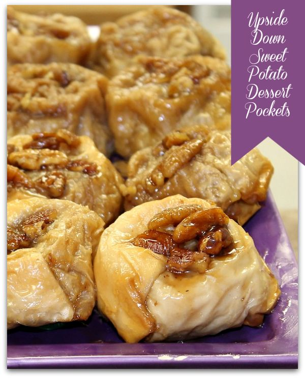 Recipes for Sweet Potatoes: Upside Down Sweet Potato Dessert Pockets -how much butter is combined the first time?