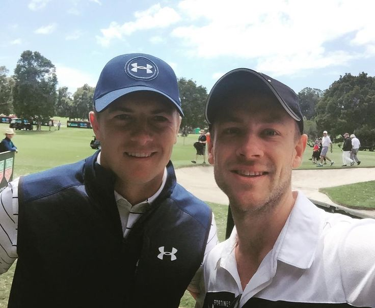 Flashback to last week #ausopengolf. Awesome to watch Jordan #Spieth put on a short game clinic and take home his second Stonehaven Cup! #underarmour #howgoodisgolf #sportiness #royalsydneygolfclub 🏌⛳️🏆