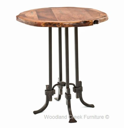 live edge rustic pub table rustic primitive western and farmland home ideas and information. Black Bedroom Furniture Sets. Home Design Ideas