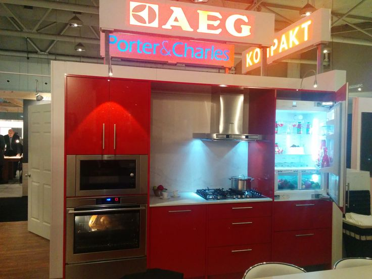 Our #AEG #red #kitchen got a lot of attention at the #IDS15 show.