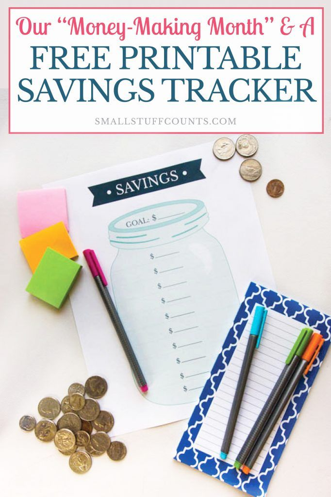 our money making month a free printable savings goal tracker ways