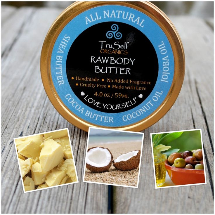 Our Raw Body Butter is specially formulated to heal even the deepest of stretch marks and helps to prevent future stretch marks from occurring. This magical formula also preserves tattoos, heals diaper rash, nourishes skin after sun exposure and helps with other common skin issues. No mater who you are, or what type of skin you may have, our Raw Body Butter is perfect for you!